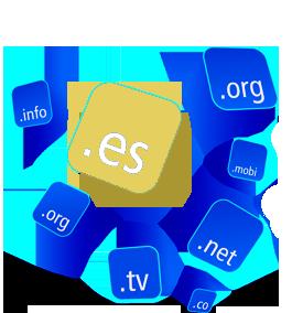 Extensiones existentes para los nombres de un dominio