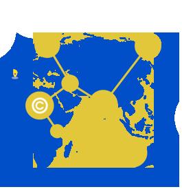 mapa del mundo sobre la proteccion internacional de derechos de Propiedad Industrial